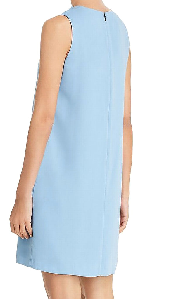 Yieldings Discount Clothing Store's Vivi Pleat-Neck Shift Dress by Le Gali in Seawater