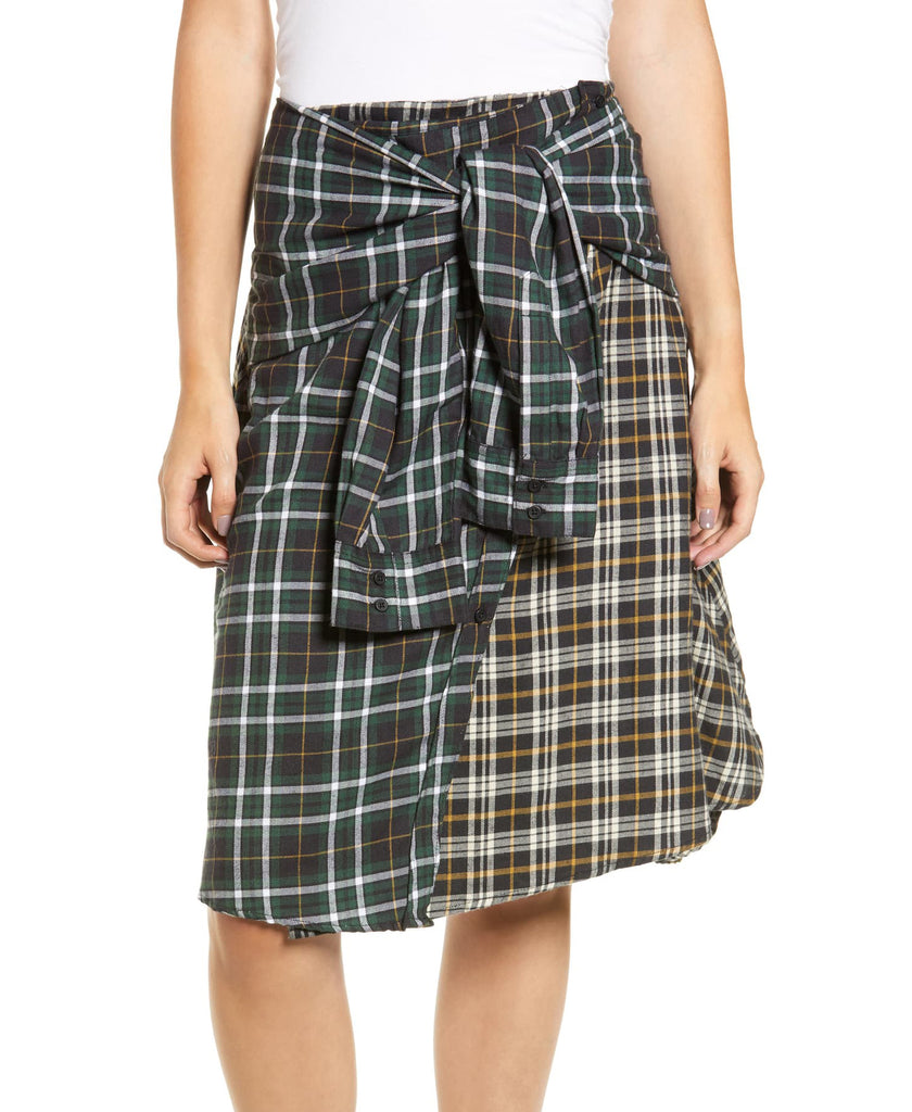 Yieldings Discount Clothing Store's Este Plaid Skirt by French Connection in Multi