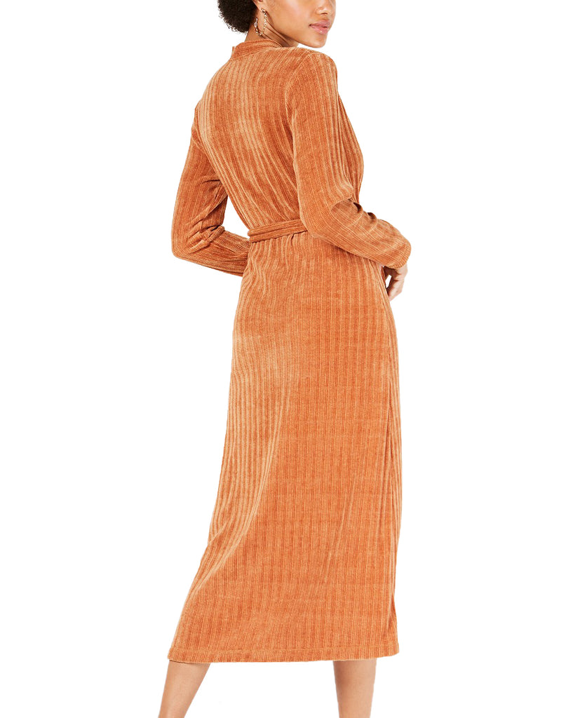 Yieldings Discount Clothing Store's Heavy Weight Tie Waist Dress by TDC in Cashew