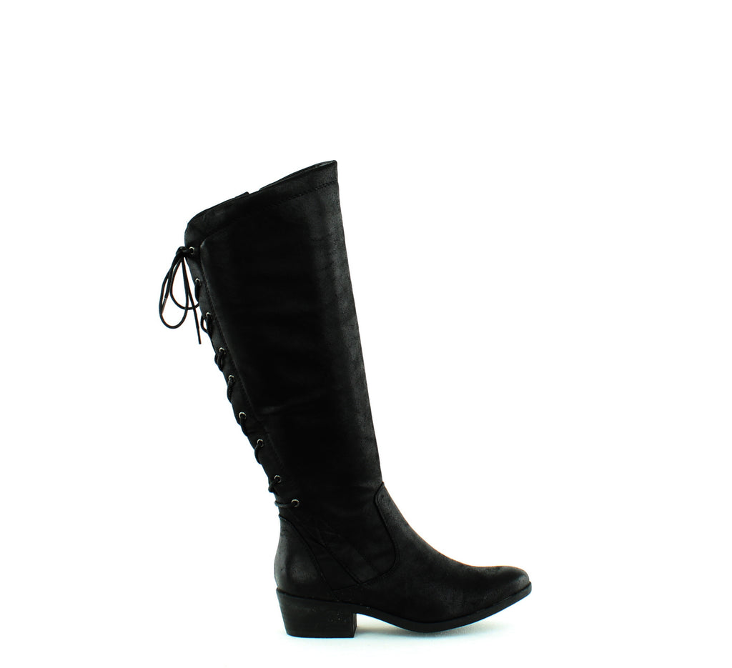Yieldings Discount Shoes Store's Gardyna Lace Up Boots by Baretraps in Black