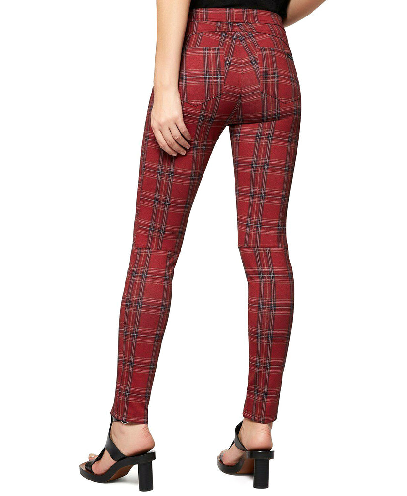 Yieldings Discount Clothing Store's Grease Plaid Leggings by Sanctuary in Red Check Plaid