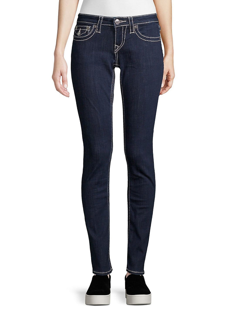 Yieldings Discount Clothing Store's Flap Pocket Skinny Jeans by True Religion in Dark Wash