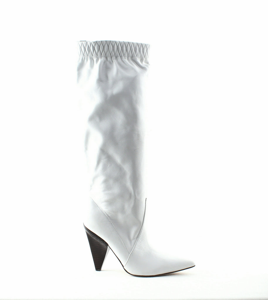 Yieldings Discount Shoes Store's Jay Slouch Boots by Sigerson Morrison in Bianco