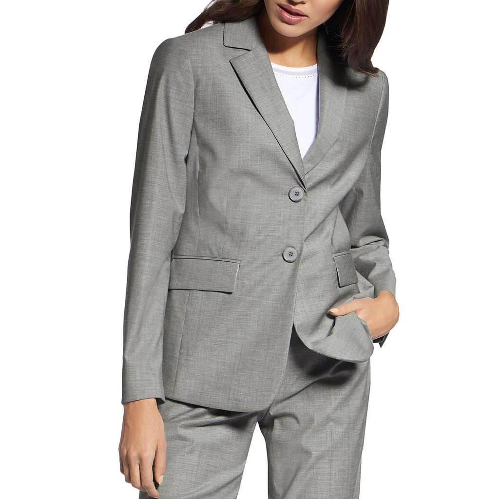 Yieldings Discount Clothing Store's Two-Button Blazer by Basler in Silver Lining