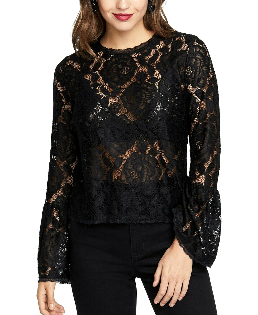 Yieldings Discount Clothing Store's Vivian Lace Top by RACHEL Rachel Roy in Black
