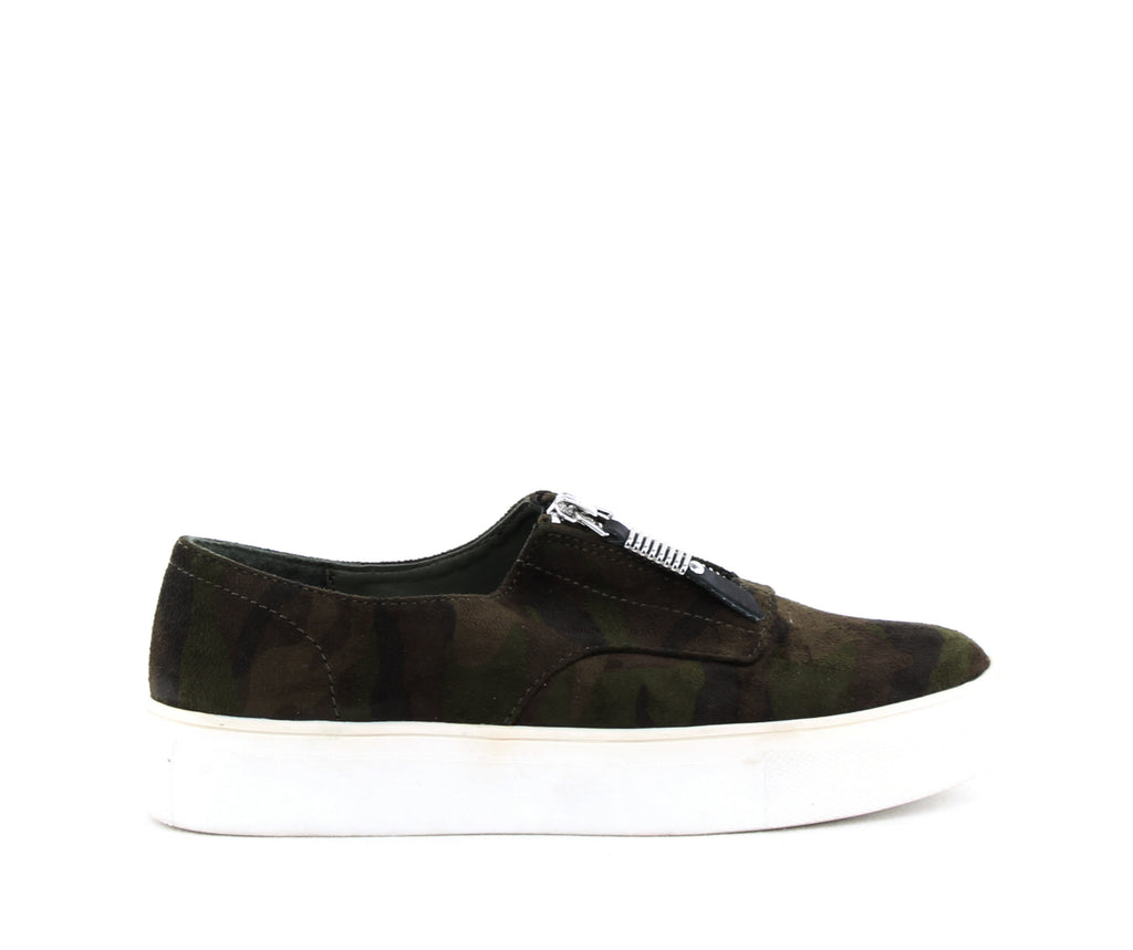 Yieldings Discount Shoes Store's Kudos Zip Up Platform Sneakers by Madden Girl in Camoflage