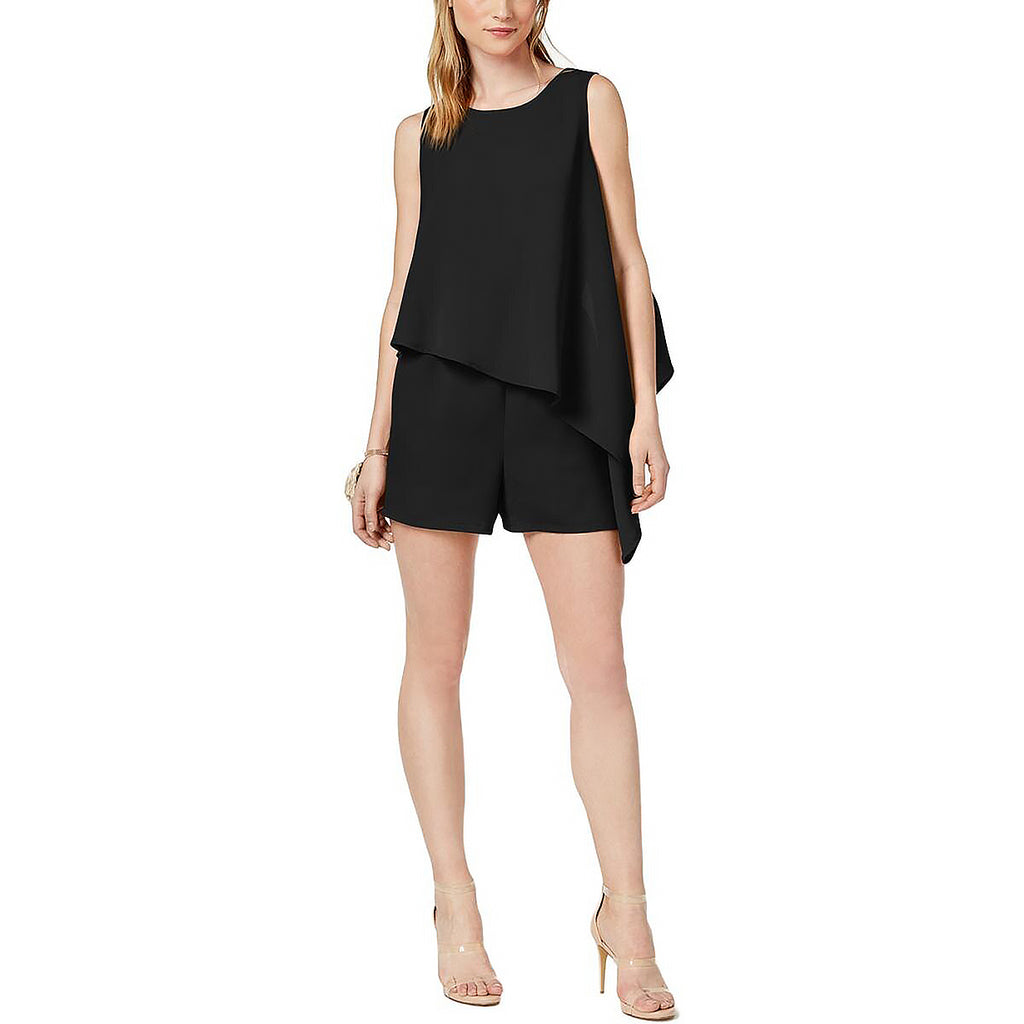 Yieldings Discount Clothing Store's Asymmetrical Romper by Bar III in Black