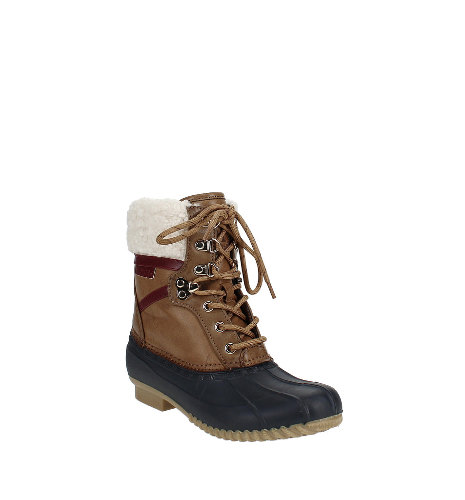 Yieldings Discount Shoes Store's Rian Lace-Up Winter Boots by Tommy Hilfiger in Medium Brown