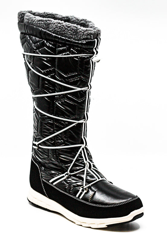 Yieldings Discount Shoes Store's Slalom V Winter Boots by Khombu in Black