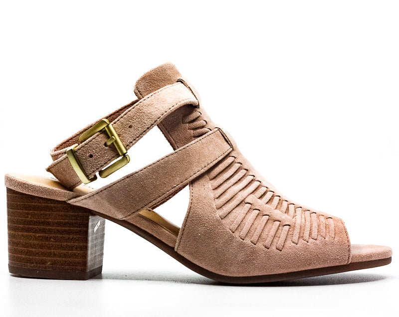 Yieldings Discount Shoes Store's Finley Block Heel Sandals by Bella Vita in Blush