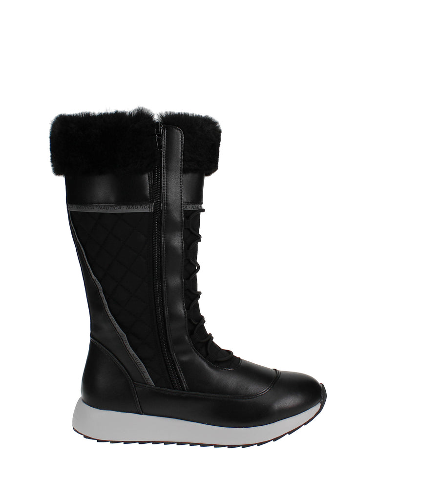 Yieldings Discount Shoes Store's Everly Cold Weather Boots by Nautica in Black