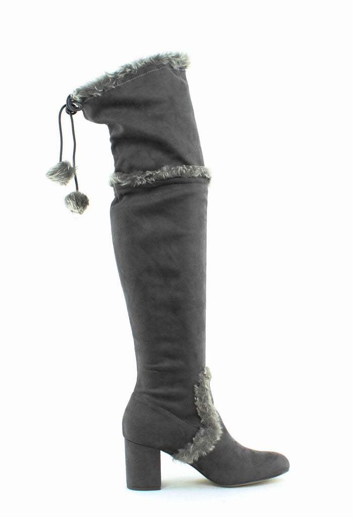 Yieldings Discount Shoes Store's Odom Over-The-Knee Boots by Charles By Charles David in Slate