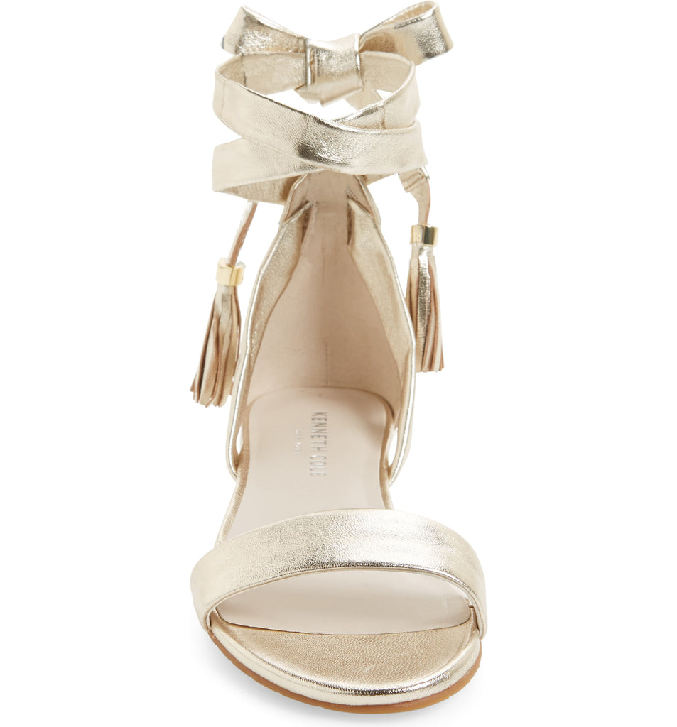 Yieldings Discount Shoes Store's Valen Flat Sandals by Kenneth Cole in Soft Gold