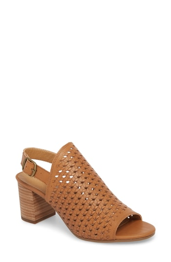 Yieldings Discount Shoes Store's Verazino Antares Block Heel Sandals by Lucky Brand in Macaroon