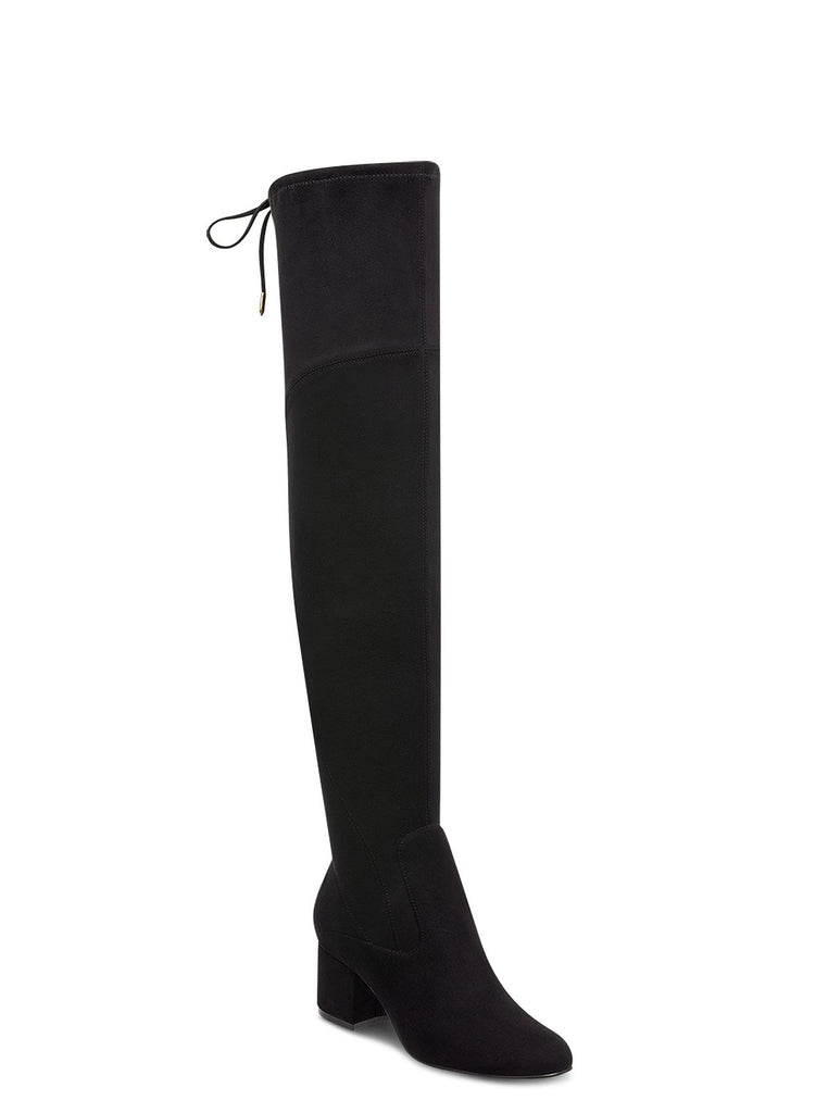 Yieldings Discount Shoes Store's Pretta Tall Suede Boots by Marc Fisher LTD in Black