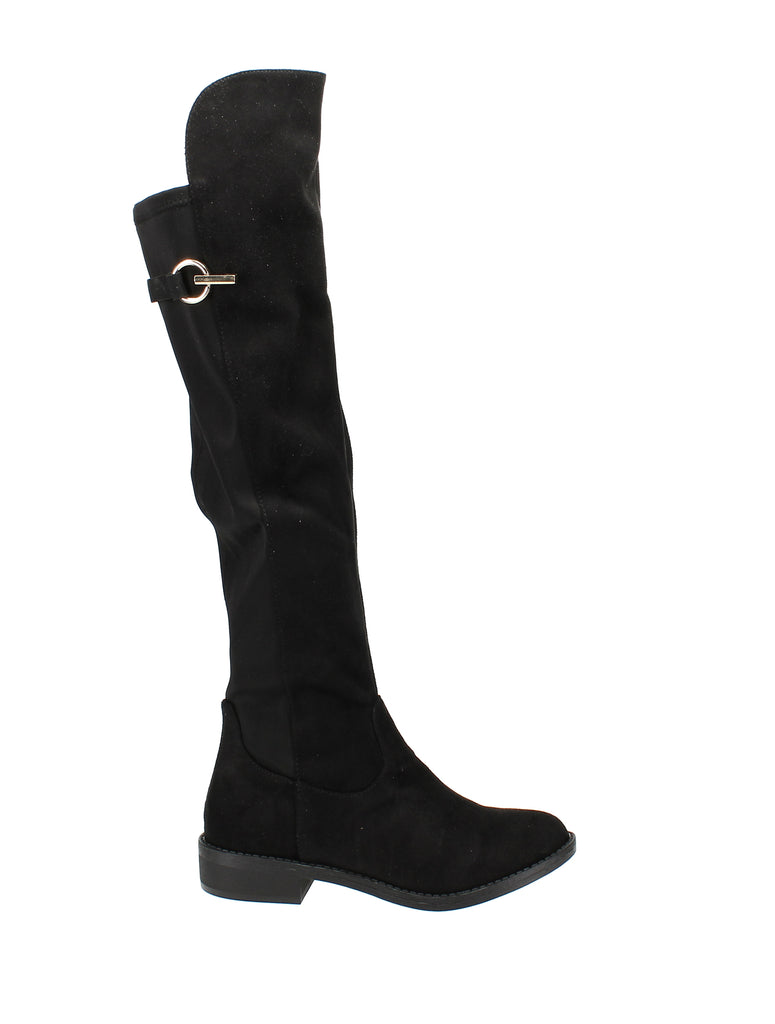 Yieldings Discount Shoes Store's Onley Over-The-Knee Boots by Zigi Soho in Black