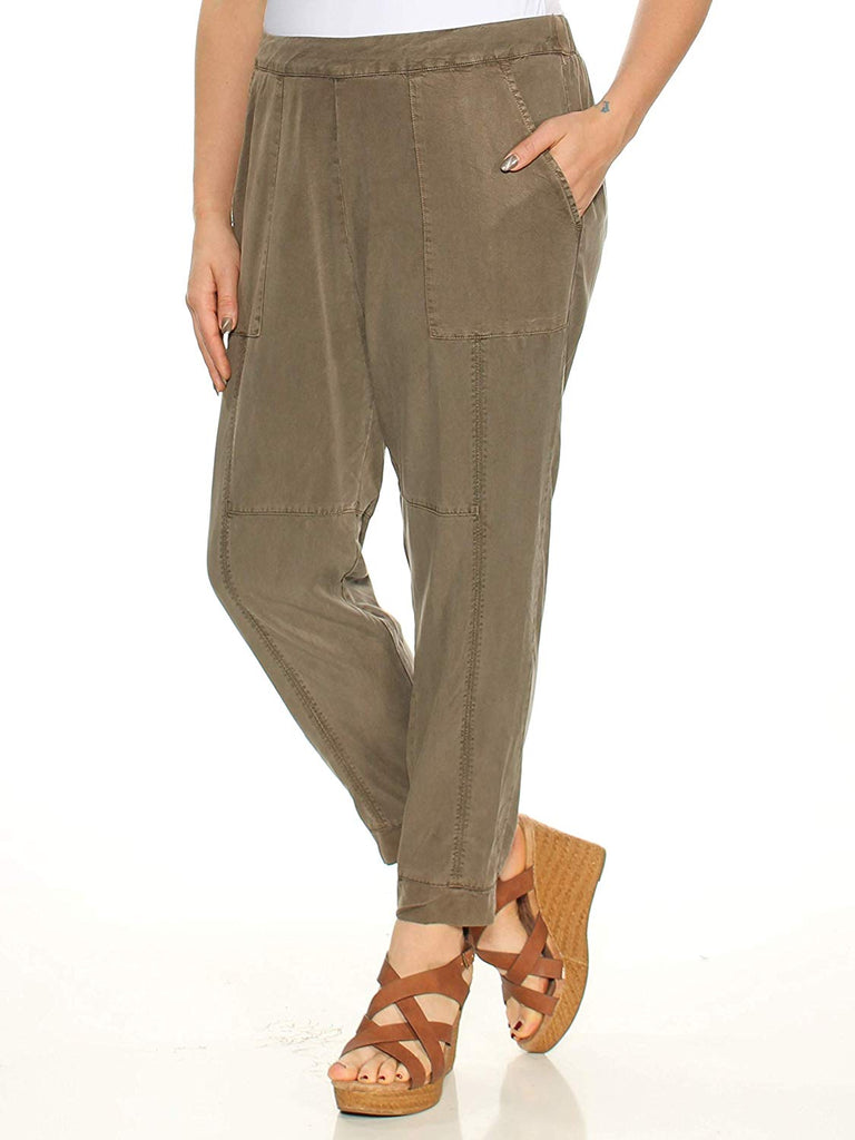 Yieldings Discount Clothing Store's The Artist Cropped Twill Jogger Pants by 1.State in Olive Branch