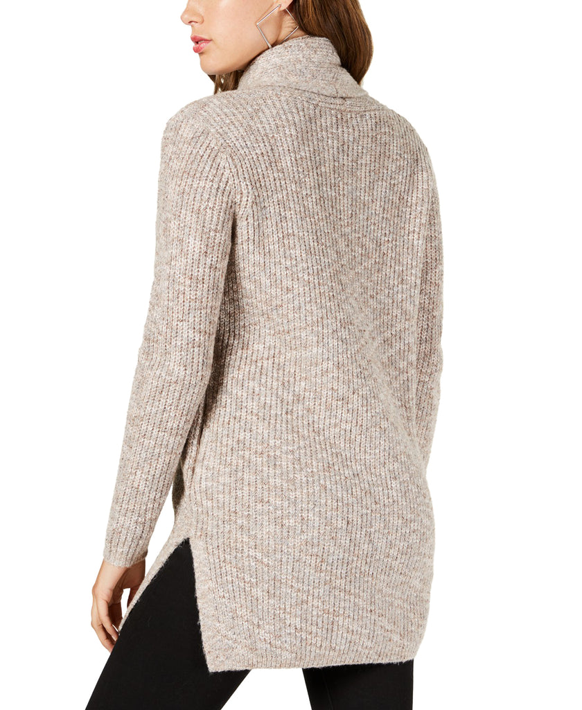 Yieldings Discount Clothing Store's Angeleica Drape Front Cardigan by Guess in Rose Smoke/Heather