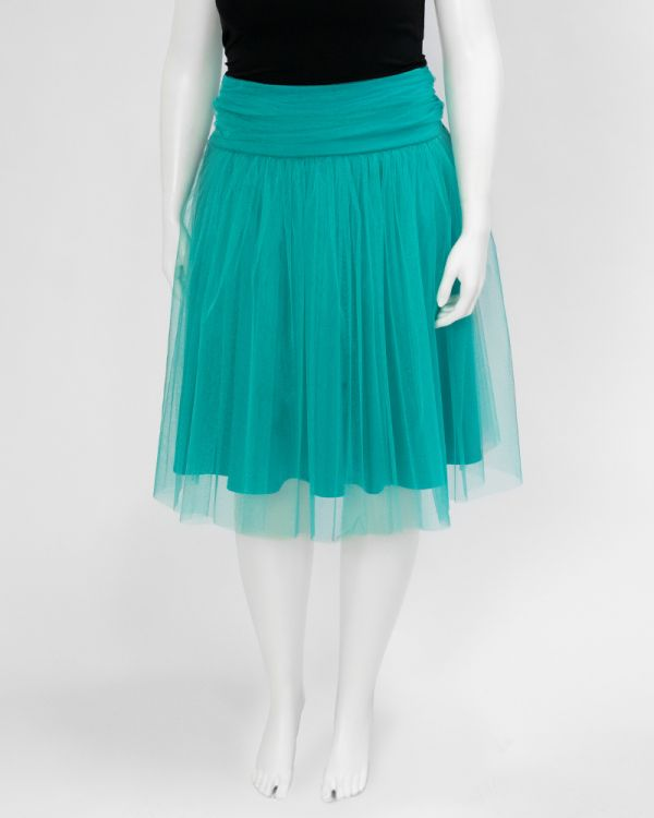 Yieldings Discount Clothing Store's Twirling in Tulle Skirt by Kiyonna in Jade