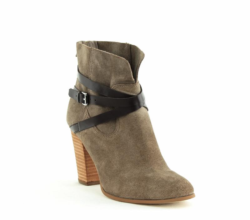 Yieldings Discount Shoes Store's Miles Block Heel Ankle Boots by Carlos by Carlos Santana in Doe