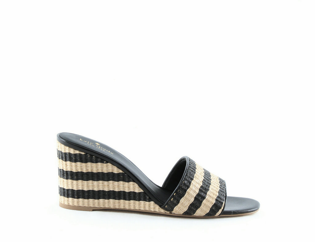 Kate Spade | Linda Striped Wedge Sandals