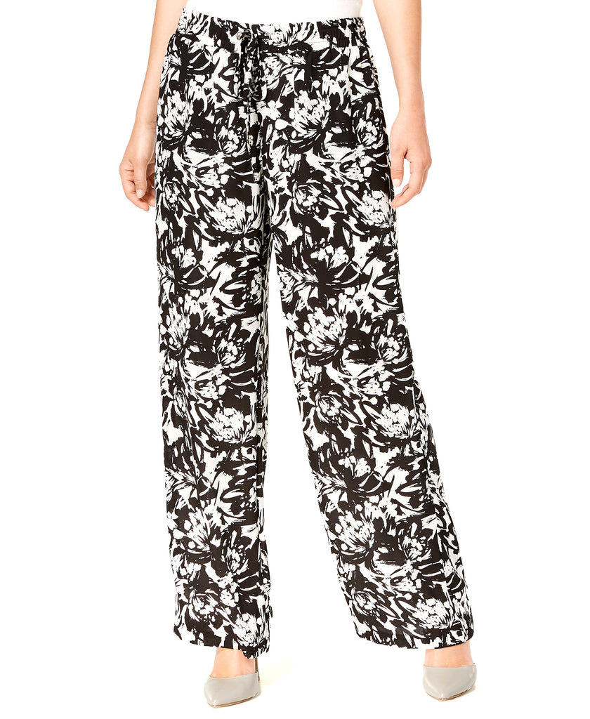 Yieldings Discount Clothing Store's Printed Wide-Leg Pants by JM Collection in Blown Blooms