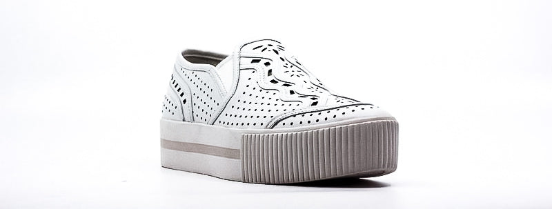 Yieldings Discount Shoes Store's Kingston Sneakers by Ash in White