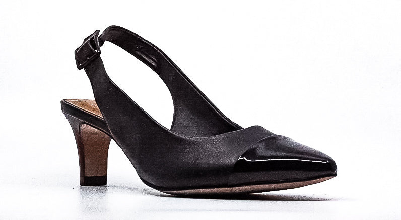 Yieldings Discount Shoes Store's Crewso Emmy Pumps by Clarks in Black