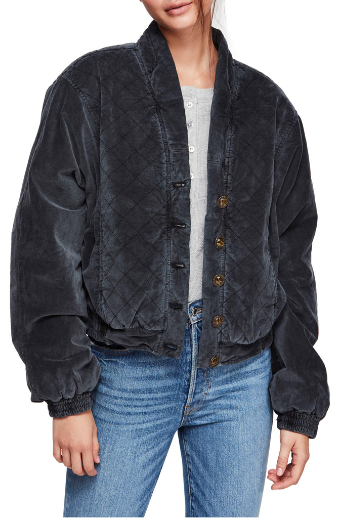 Yieldings Discount Clothing Store's Main Squeeze Jacket by Free People in Black