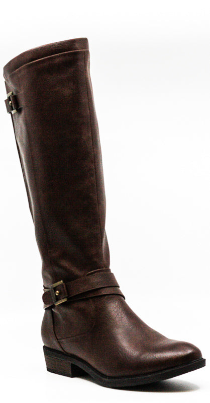 Yieldings Discount Shoes Store's Yalina Tall Boots by Baretraps in Dark Brown