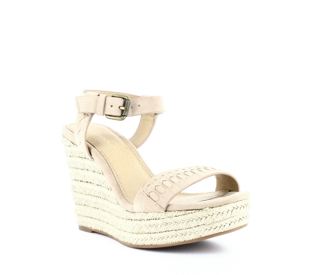Yieldings Discount Shoes Store's Shayla Woven Wedge Sandals by Splendid in Wood Suede