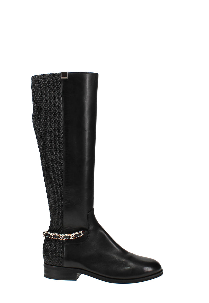 Yieldings Discount Shoes Store's Idina Stretch Boots by Cole Haan in Black