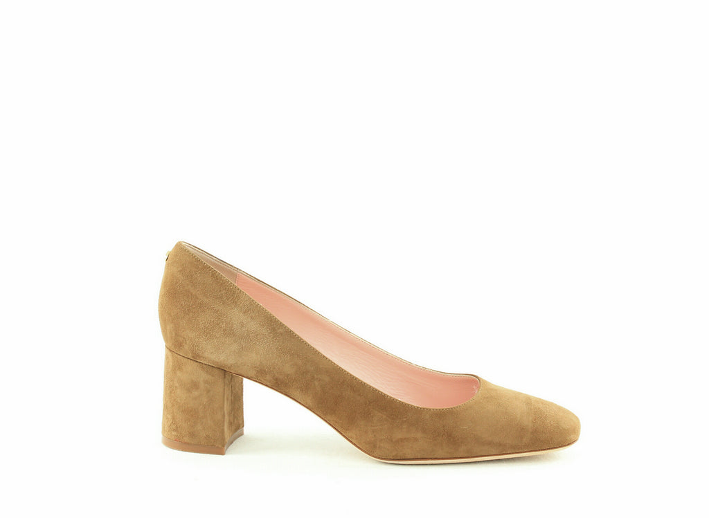 Yieldings Discount Shoes Store's Kylah Square-Toe Pumps by Kate Spade in New Taupe