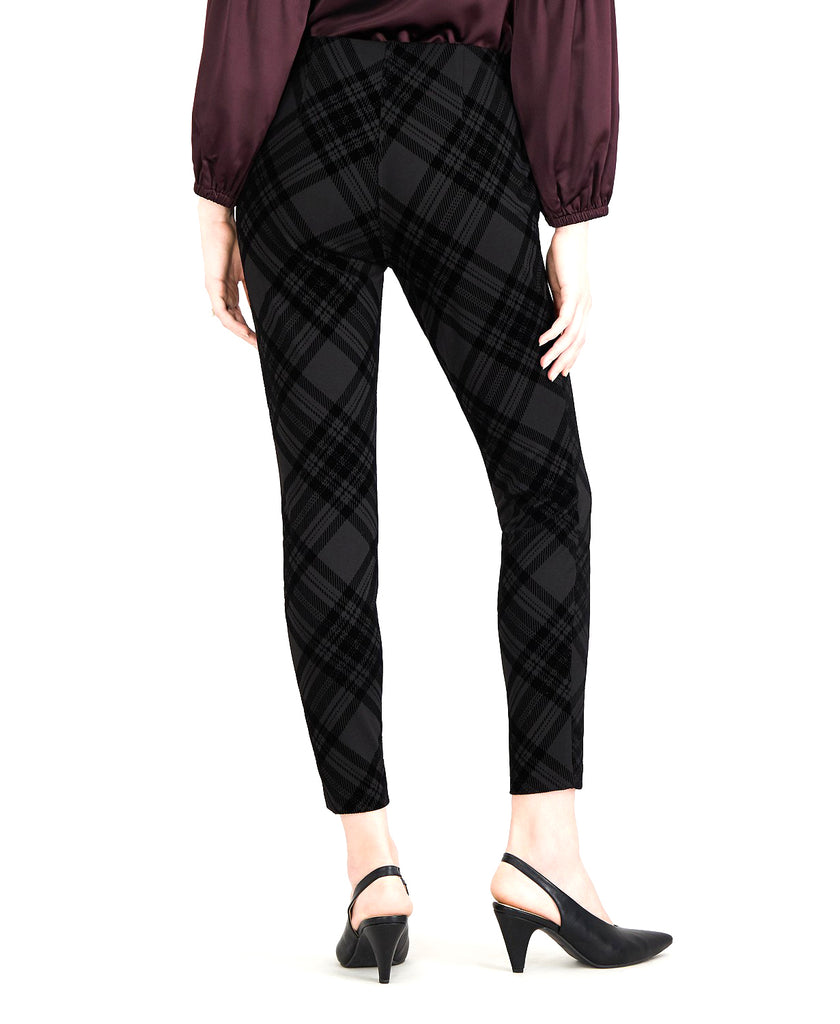 Yieldings Discount Clothing Store's Flocked Plaid Pants by Maison Jules in Flocked Plaid