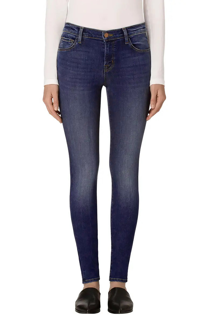 Yieldings Discount Clothing Store's Mid Rise Skinny Jeans by J Brand in Surrey Lane