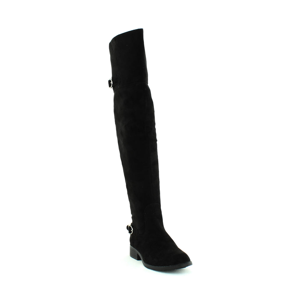 Yieldings Discount Shoes Store's Adarra Over The Knee Boots by American Rag in Black