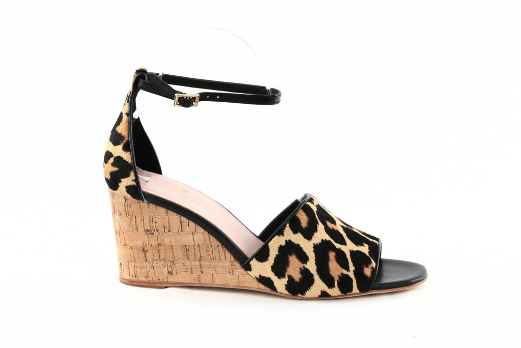 Yieldings Discount Shoes Store's Lonnie Wedge Sandals by Kate Spade in Amaretto/Black