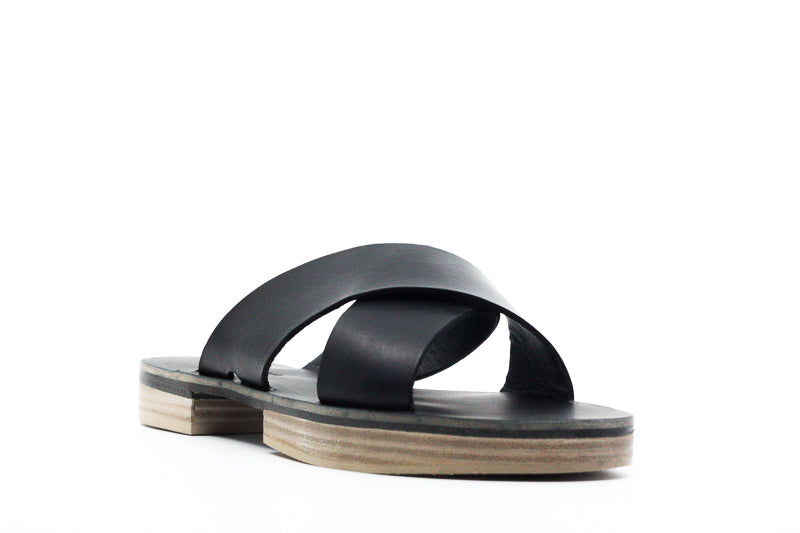 Yieldings Discount Shoes Store's Cross Sandals by Freda Salvador in Black