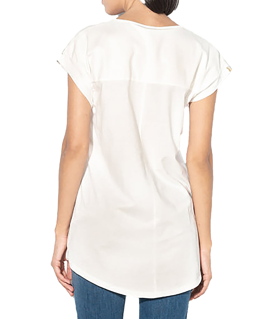 Yieldings Discount Clothing Store's Cotton Foil Logo T-Shirt by Just Cavalli in White