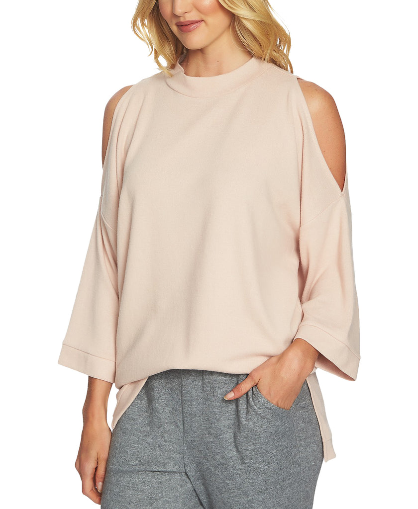 1.State | Cozy 3/4 Length Sleeve Cold Shoulder Top