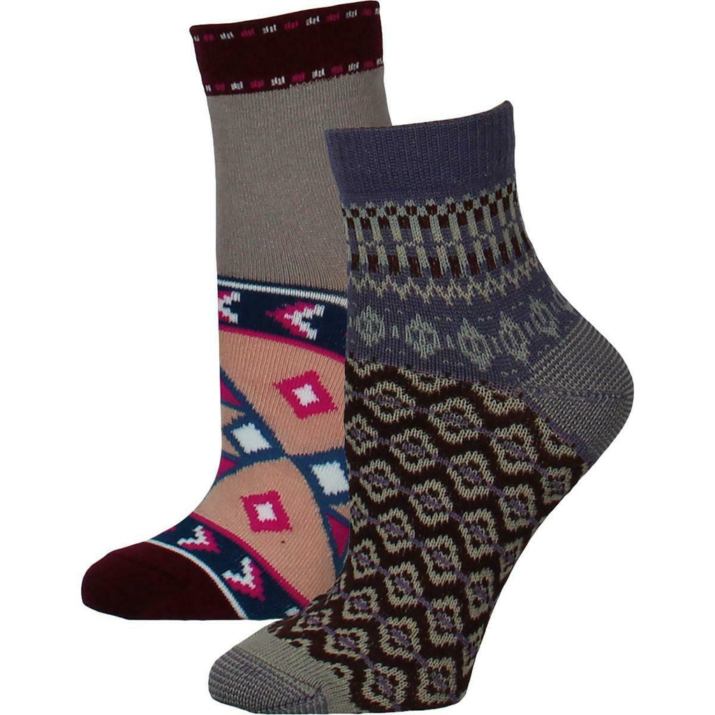 Yieldings Discount Clothing Store's Double Trouble Set Socks by Free People in Wine