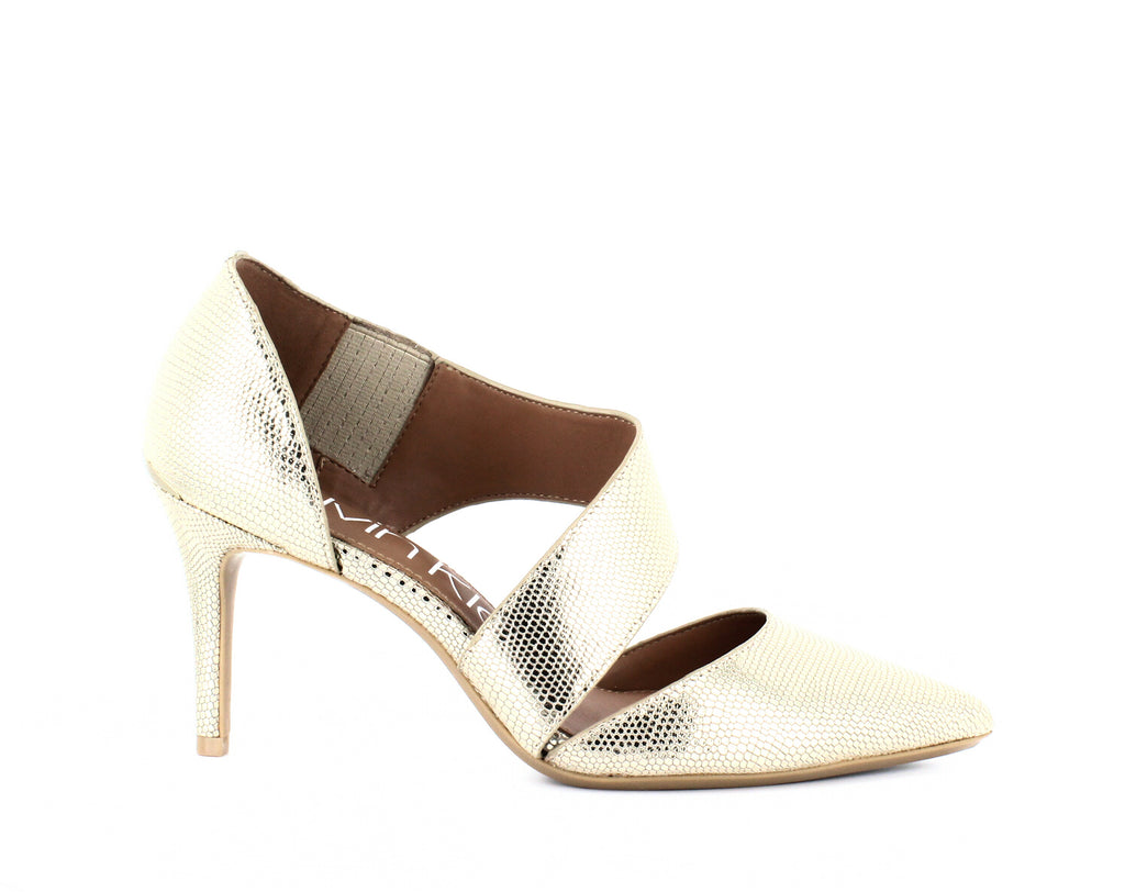 Yieldings Discount Shoes Store's Gella Dress Pumps by Calvin Klein in Soft Gold/Natural
