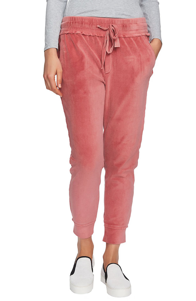 Yieldings Discount Clothing Store's Velour Jogger Sweatpants by 1.State in Forest Berry