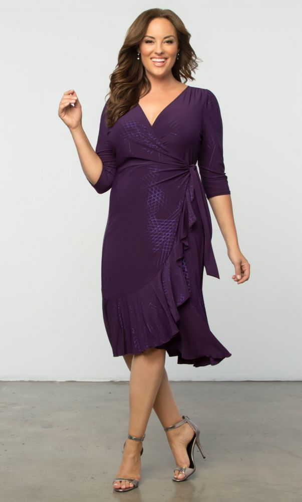 Yieldings Discount Clothing Store's Whimsy Wrap Dress by Kiyonna in SPS