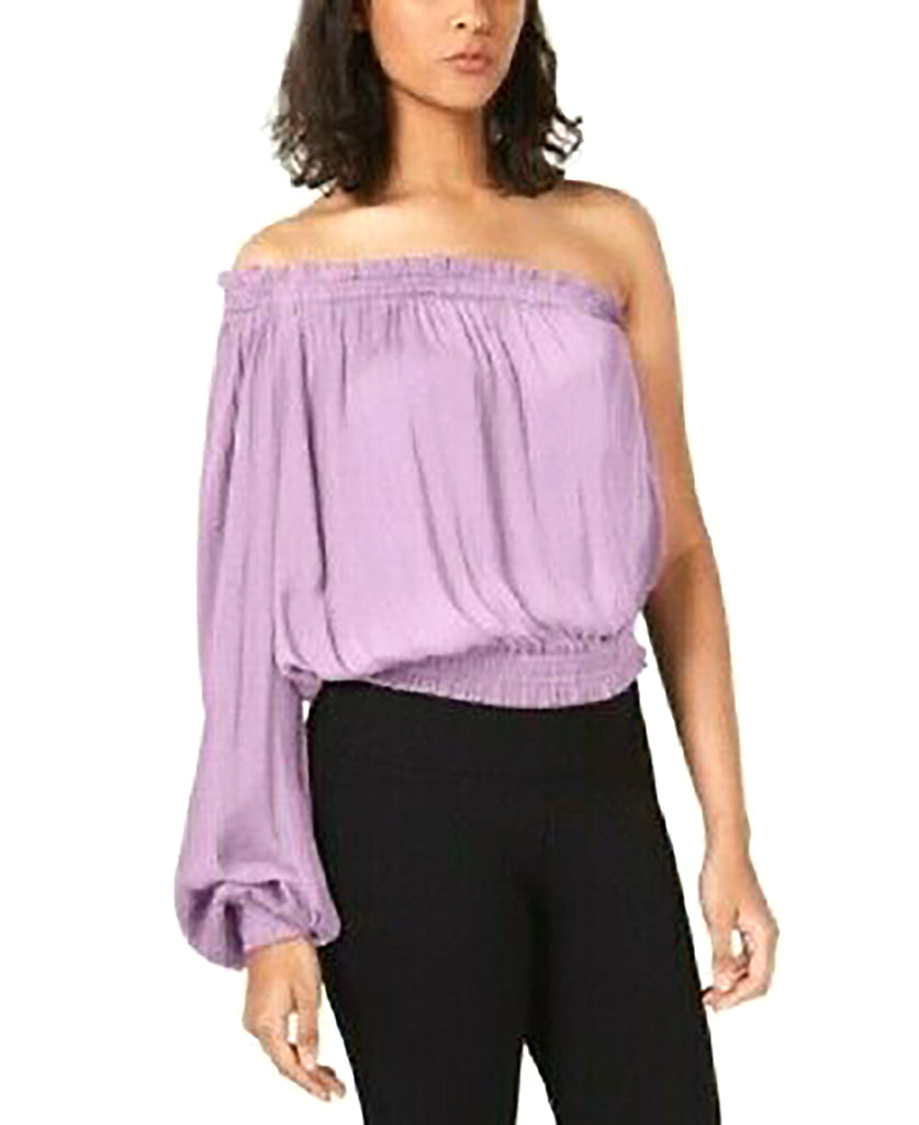 Yieldings Discount Clothing Store's One-Shoulder Top by Bar III in Evening Mauve