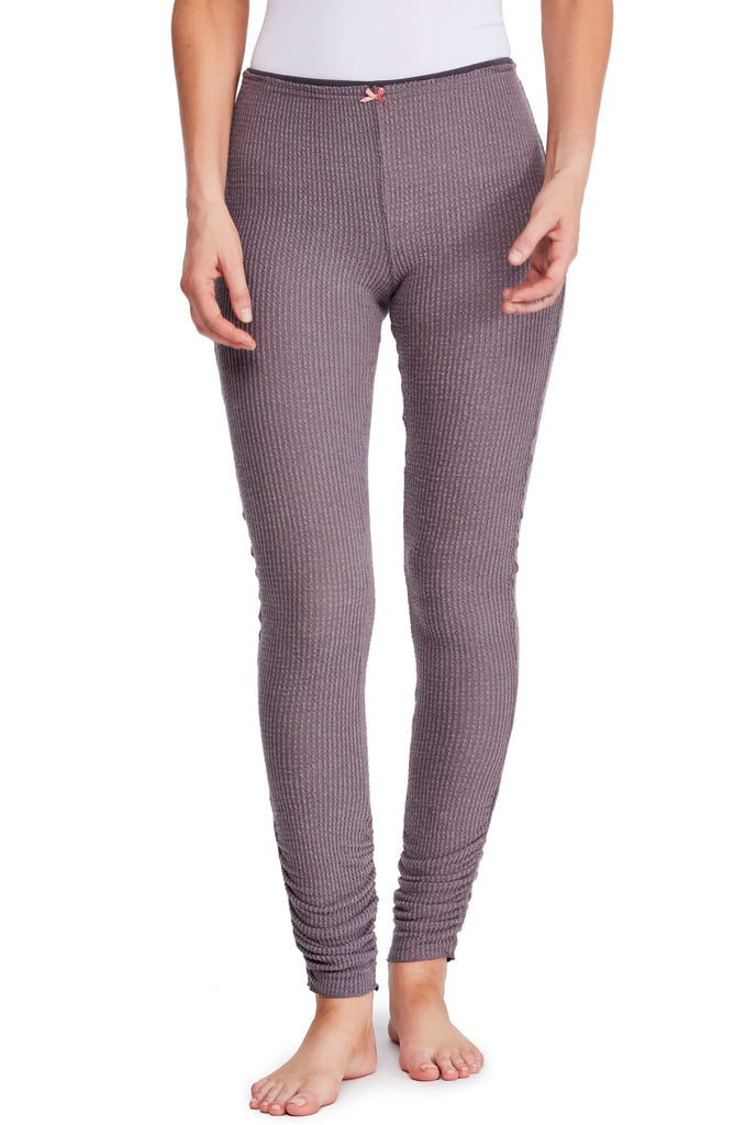 Yieldings Discount Clothing Store's Lou Lou Ruched Thermal Legging by Free People in Mountain Mist