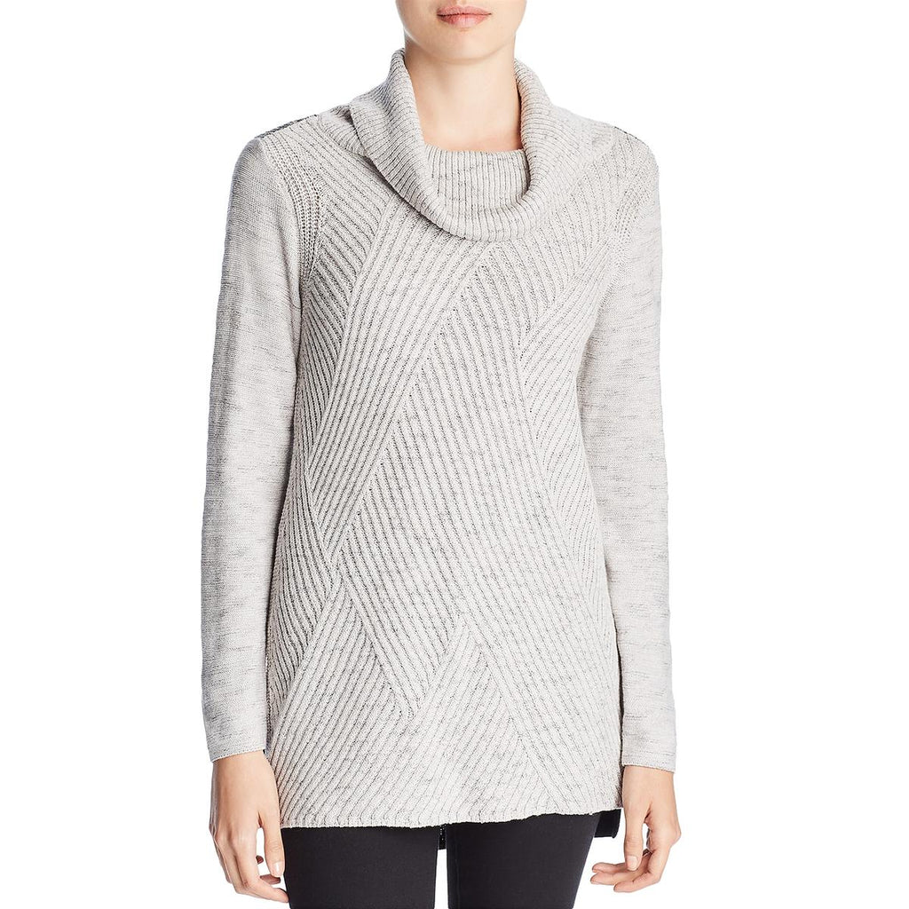 Yieldings Discount Clothing Store's North Star Colorblock Sweater by Nic+Zoe in Grey Mix