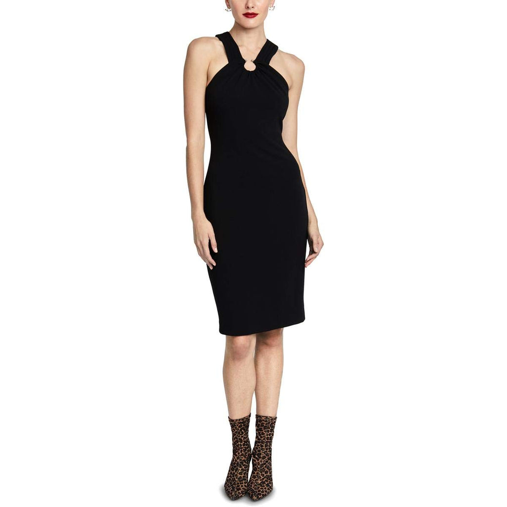 Yieldings Discount Clothing Store's Prynn Back Zip Up Dress by RACHEL Rachel Roy in Black