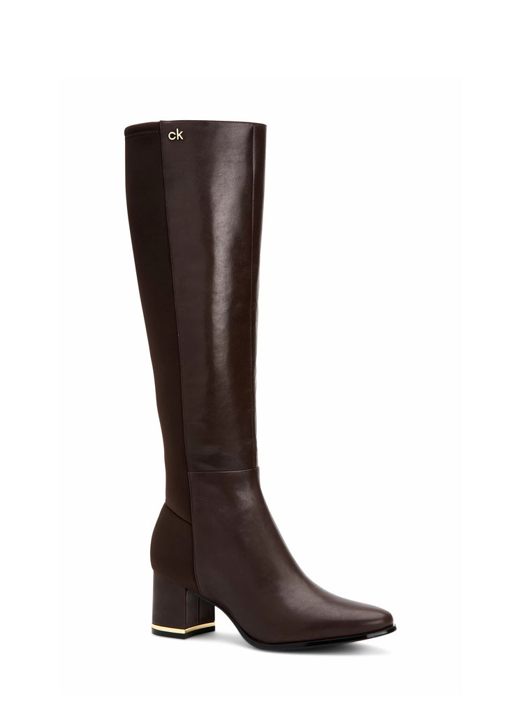 Yieldings Discount Shoes Store's Freeda Tall Boots by Calvin Klein in Black