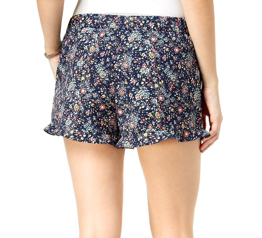 Yieldings Discount Clothing Store's Soft Short Floral Prin Shorts by Maison Jules in Blue Notte